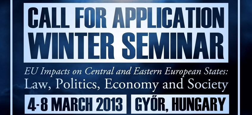 """Winter Seminar  """"EU Impacts on Central and Eastern European States: Law, Politics, Economy and Society"""""""